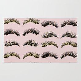 Blush pink - glam lash design Rug
