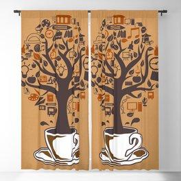 Coffee Tree Blackout Curtain