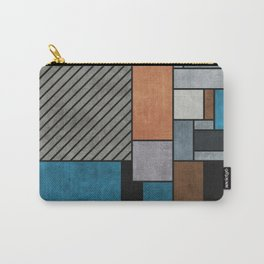 Random Concrete Pattern - Blue, Grey, Brown Carry-All Pouch