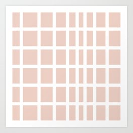 The Modern Square - Romance Pink Art Print