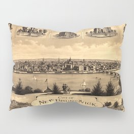 Map of New Brunswick NJ 1880 Pillow Sham
