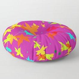 Forever Autumn Leaves purple 4 Floor Pillow