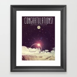 Congrats! Framed Art Print