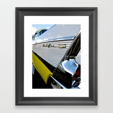Yellow Classic American Muscle Car Belair  Framed Art Print
