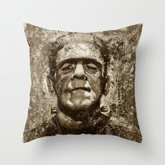 The Creature - Sepia Version Throw Pillow