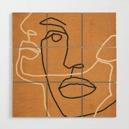 Abstract Face 6 Wood Wall Art