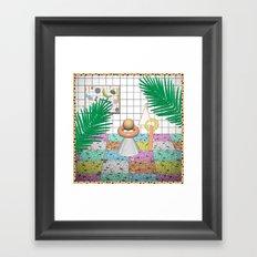 Memphis Terrazzo Framed Art Print