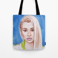 iggy Tote Bags featuring Iggy by Kaitlin Polak