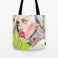 artrave Tote Bags featuring ArtRAVE by Dafni