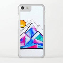 Rockies in the Abstract Clear iPhone Case