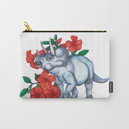 T is for Triceratops and Trumpet Vine Carry-All Pouch