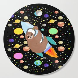 Sloth in Space Cutting Board
