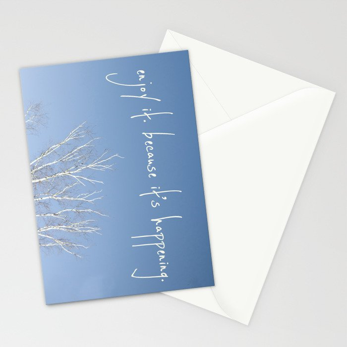perks of being a wallflower - life is happening Stationery Cards