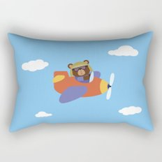 Bear in Airplane Rectangular Pillow
