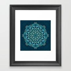 Frozen mandala Framed Art Print