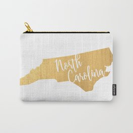 North Carolina gold Carry-All Pouch