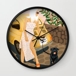 Tour #illustration Wall Clock