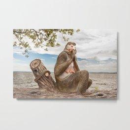 statue monkey Metal Print