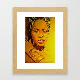 Erykah badu Framed Art Print