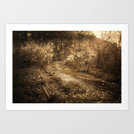 Road to memories Art Print