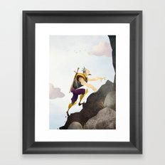 The Climb Framed Art Print