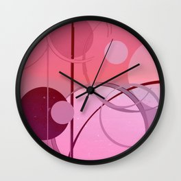 Ombré Pink Circle Pattern Abstract #1 Wall Clock