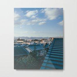 Kyoto Rooftops Metal Print