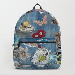 worn jeans bling Backpack