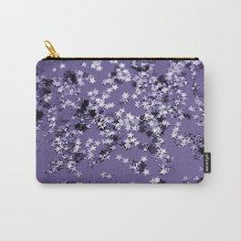 Ultra Violet Glitter Stars #1 #shiny #decor #art #society6 Carry-All Pouch