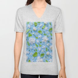 Leaves and flowers pattern (16) Unisex V-Neck