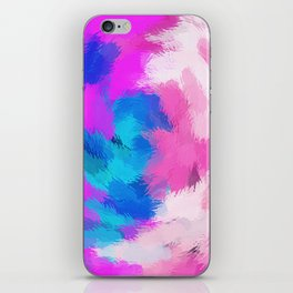 blue and pink painting texture abstract background iPhone Skin