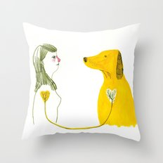 LOVE AND DOGS part 2 Throw Pillow