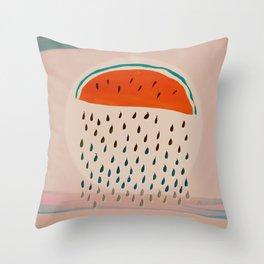 Sun Watermelon Rain Mutants Sequence 2 Throw Pillow