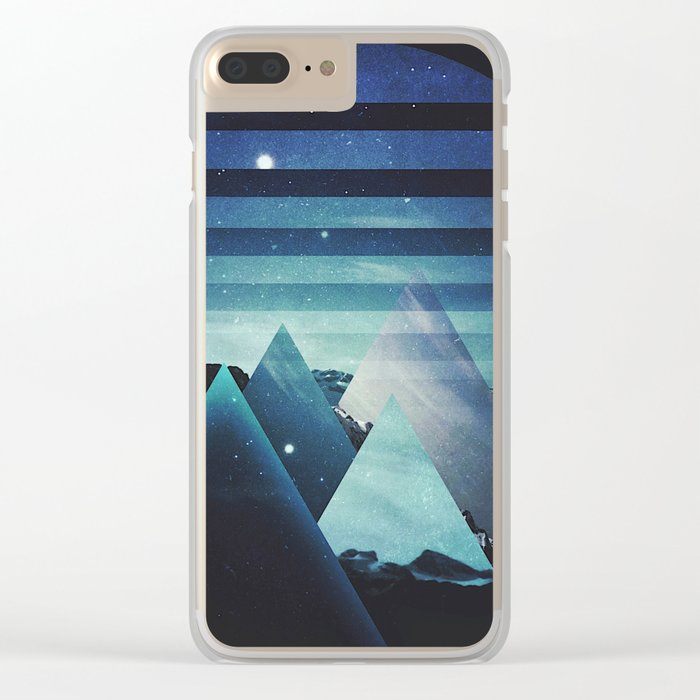 Fractions B06 Clear iPhone Case