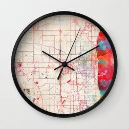 Kenosha map Wisconsin painting Wall Clock