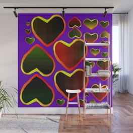 Hearts on fire Wall Mural