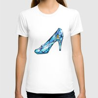 shoe T-shirts featuring Cinderella Shoe by Chris Thompson, ThompsonArts.com