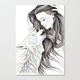 Witch Wolf Canvas Print
