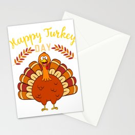 Happy Turkey Day Thanksgiving Save A Turkey Awareness T-shirt Design Veggy Vegetarian Vegan  Stationery Cards