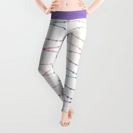 Modern abstract ombre pink lavender string lights Leggings