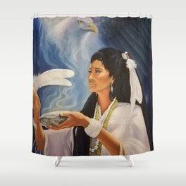 Native American Shaman Shower Curtain