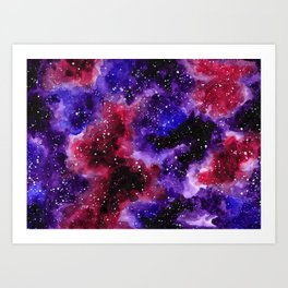 Purple Nebula Art Print