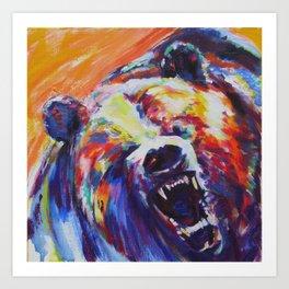 Mama Bear or Don't mess with my kid! Art Print