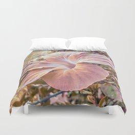 Fantasy Colors Hibiscus Flower Digital Photography Duvet Cover