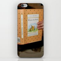 winnie the pooh iPhone & iPod Skins featuring Winnie•the•Pooh by Kearsten Taylor