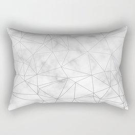 Marble Silver Geometric Texture Rectangular Pillow