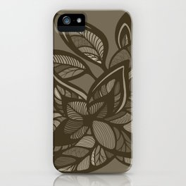 Let Love Grow - Cocoa iPhone Case