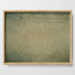 Grunge distressed old green paper Serving Tray