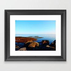 Tidal Shelf under blue sky Framed Art Print