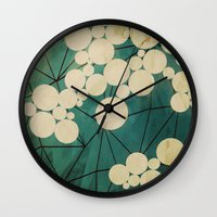 spring Wall Clocks featuring spring by Laura Graves